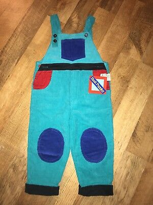 Vintage Hush Puppies Colorful Overalls 2t Boys Girls