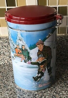 Tim Hortons Limited Coffee Canister Tin Collector Series #003 Skating Pond