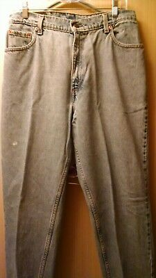 Women's Levi Strauss 550 Relaxed Fit Tapered Leg Distressed Denim Jeans Sz 14M