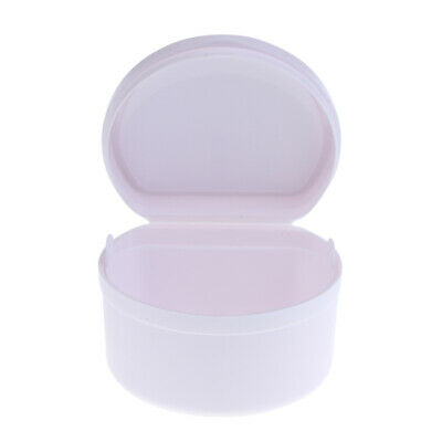Orthodontic Denture Teeth Box Container Dental Holder Mouthguard Case Bath Cup