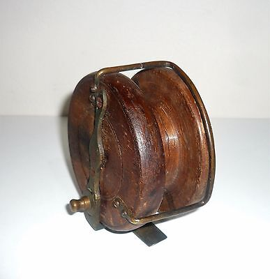 Early Wooden  Fishing Reel Complete