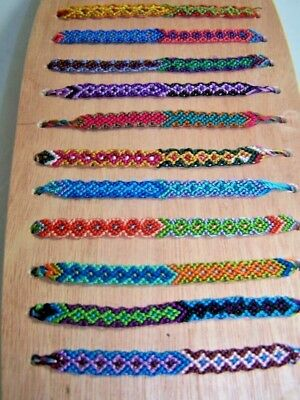 Cotton Bracelet For Wrist Ankle Made In Guatemala Pack Of 10 Friendship Hippy