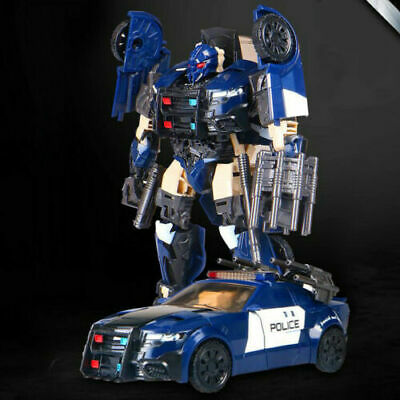 Transformers 5 Barricade The Last Knight Ko Version Action Figure Police Car Toy