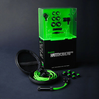 Razer Hammerhead Pro In-Ear Earphone Headphone Earbuds PC Laptop Gaming Headset#
