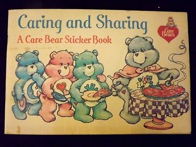 Vintage Care Bear Stickers Book, Pizza Hut 1984 Caring and Sharing, UNUSED