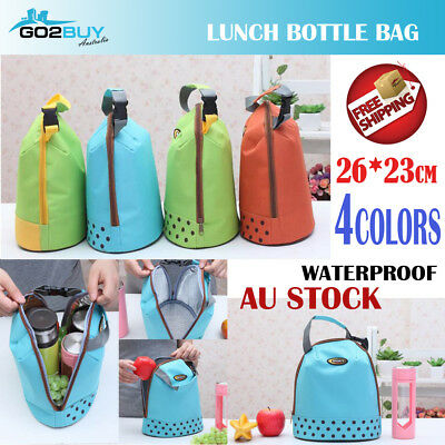 Portable Insulated Thermal Cooler Lunch Bottle Box Tote Picnic Case Storage Bag