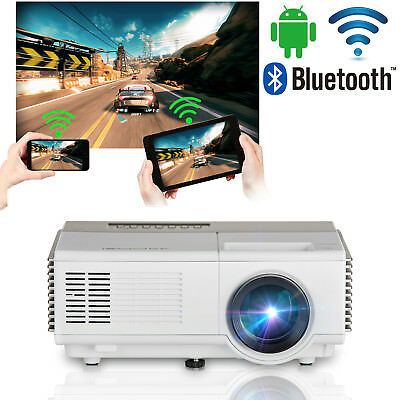 Mini Android Wifi Heimkino Beamer Projektor Bluetooth Kabellos Film HDMI USB VGA