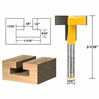 "Joinery Bits Yonico 14188q T-Slot T-Track Slotting Router 1/4"" Shank NEW SET LOT"