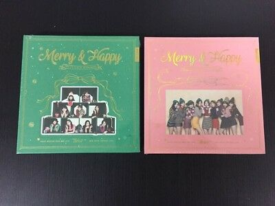 TWICE [MERRY&HAPPY] 1st Album Repckage photocard+photobook+sticker+Pre-Benefit