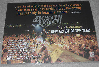 Dustin Lynch CMA Voter Photo - RARE!!! Not Current Mood or Where It's At CD