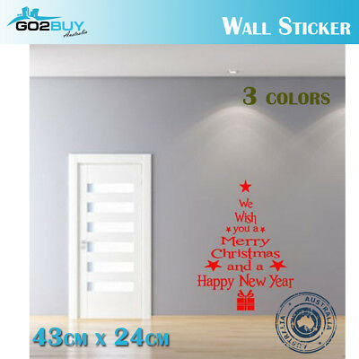 Merry Christmas New Year Removable Wall Sticker Window Home Shop Party Decor