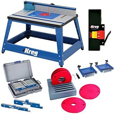 Tables Kreg PRS2100 Bench Top Router Table W/ Essential Accessories NEW SET LOT