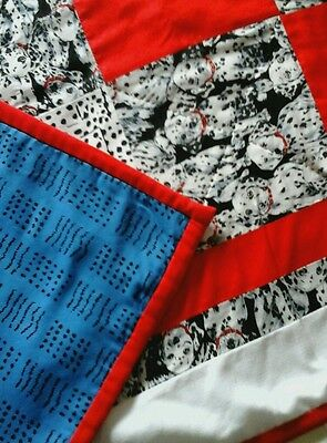 Dalmatian Dog Material Patchwork Quilt Throw Sewing Craft Fabric Handmade Blanke