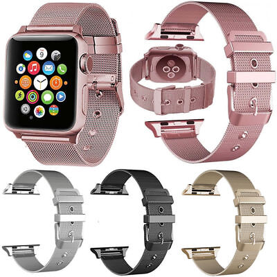 New Milanese Metal Bracelet Strap Band For Apple Watch Series 4 3 2 1 iwatch