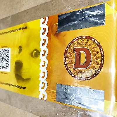 Dogecoin Paper Wallet with Security Seal - DOGE Cryptocurrency