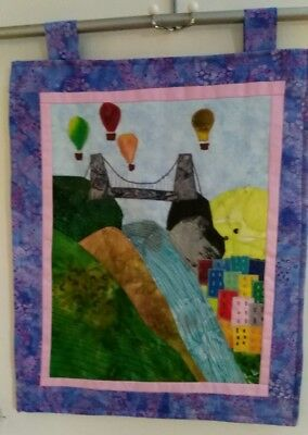 Bristol clifton suspension bridge quilted wall hanging