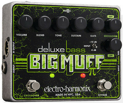 Electro Harmonix Deluxe Bass Big Muff PI EHX Overdrive