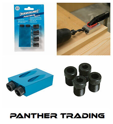 Silverline Pocket-Hole Jig Joinery Includes Pairs of 6, 8 & 10mm Guides - 868549