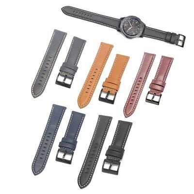 Quick Release Watch Band Wrist Strap 22mm For Fossil Q Founder Gen 1 / 2 Leather
