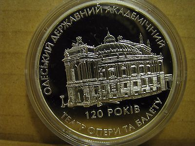 """Ukraine Silver Coin """"120 Yrs Of Odesa State Academical Opera And Ballet Theater"""""""