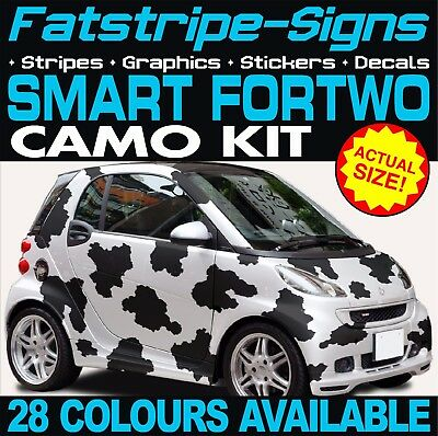 Smart Car Fortwo Camo Graphics Stickers Stripes Decals Coupe Convertable Brabus