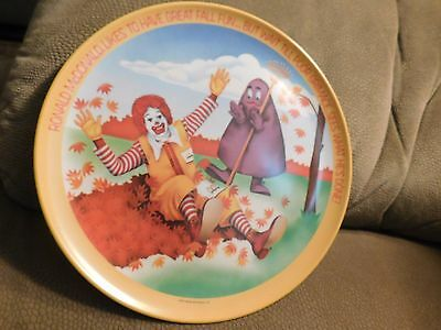 Ronald McDonald & Friends Fall 1977 Vintage Collectible Plate Made in the USA