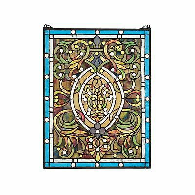 Stained Glass Panel - Beguiled in Blue Stained Glass Window Hangings -... NO TAX