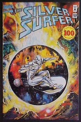 The Silver Surfer #100! Anniversary Issue! Wrap Around Cover! 1995 Marvel Comics