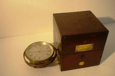 Real Antique GRAHAM & PARKS Marine CHRONOMETER - 100% ORIGINAL - BODY ONLY