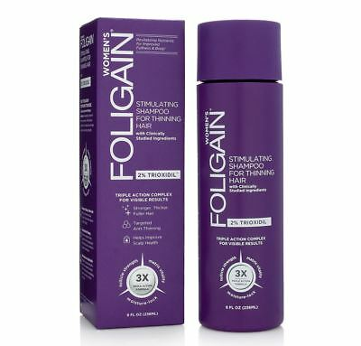 Foligain Hair Regrowth Shampoo For Women With 2% Trioxidil 236ml/8 Oz