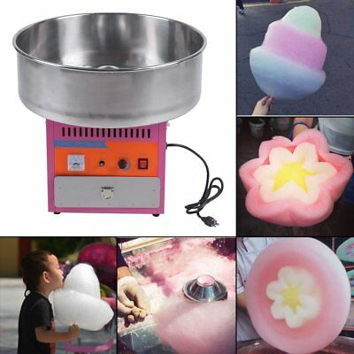 Great Electric Cotton Candy Machine Pink Floss Carnival Maker Party Commercial B