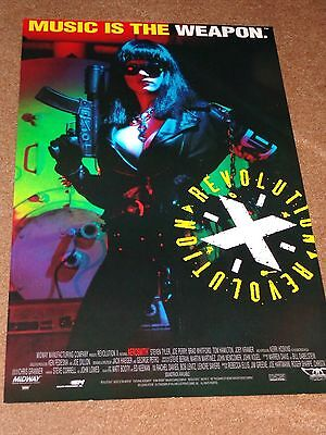 Midway Revolution X Poster W/flyer- Featuring Aerosmith