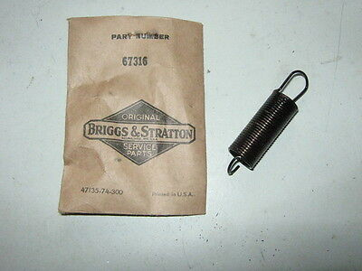Genuine Briggs & Stratton Gas Engine Governor Spring 67316 Model B K Z ZZ NOS