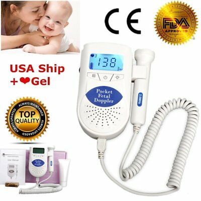 B Fetal Doppler with 3Mhz probe, US Seller 1yr Warranty, LCD Backlight