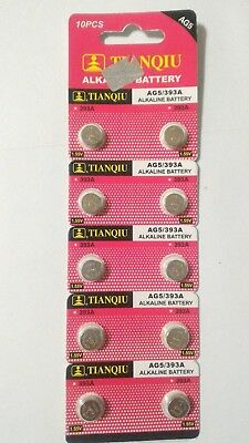 10 Pcs AG5 LR48 LR754 193 393 309 1.5V Alkaline Battery Watch TianQiu