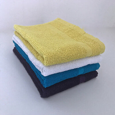 Single Hand Towel Bathroom Kitchen Cotton Blend Purple Blue Yellow White Towels