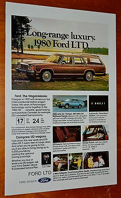 1980 Ford Ltd Station Wagon In Brown Ad - American 70S Vintage