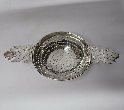 Antique Queen Anne Silver Lemon Strainer by JOHN CHARTIER 1710-15. Stock ID 9020