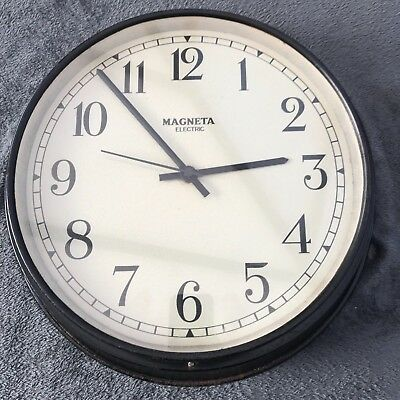 Working Large Industrial Magneta Electric Factory Wall Clock
