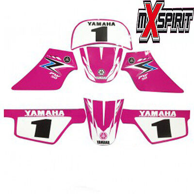 Stickers Kit Deco Fille MX YAMAHA PW 50 PW50 ROSE ORIGINE Piwi Haute Resistance