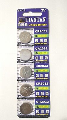 5 Pcs CR2032 3v Coin Cell Lithium Batteries 220mAh