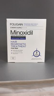 Foligain MINOXIDIL 5% HAIR REGROWTH TREATMENT FOR MEN (Low Alcohol Formula)