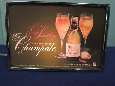 Iroquois Brands Sparkling Extra Dry Champale Lighted Sign