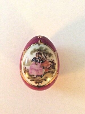 Vintage Teissonniere Limoges Egg Trinket Box Made in France