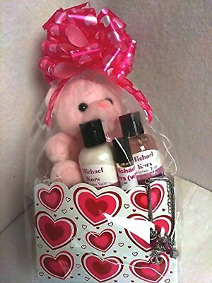Mother's Day Medium Gift Set for Her 1 Teddy Bear1 Bubble Bath Body Lotion Oil 1