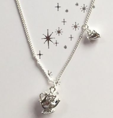Disney Beauty And The Beast Necklace Mrs Pots And Chip CHRISTMAS GIFT
