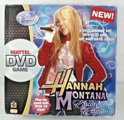 "Disney's DVD Game  Hannah Montana ""Encore Edition "" Game 2008 VGC 100% Complete"
