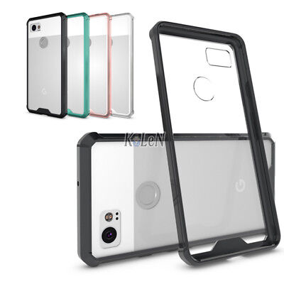 For Google Pixel 2 XL Case Drop Protection TPU Bumper and Transparent Back Cover