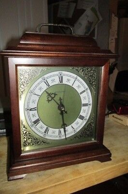 Vintage Wooden Case Hamilton  Westminster Chime Carriage Mantle Clock