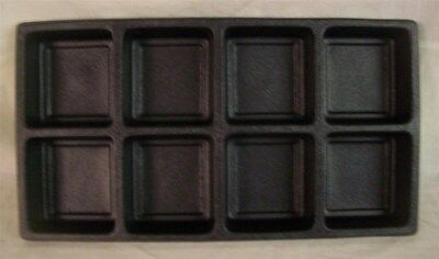 Jewelry Display Fixtures 3 NEW 8 COMPARTMENT PLASTIC TRAY LINER INSERTS BLACK